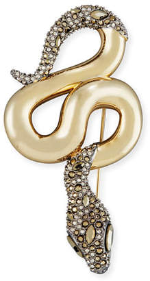 Alexis Bittar Medium Metallic Snake Crystal Pin