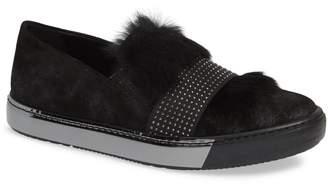 Sesto Meucci Cornie Genuine Rabbit Fur Embellished Slip-On Sneaker