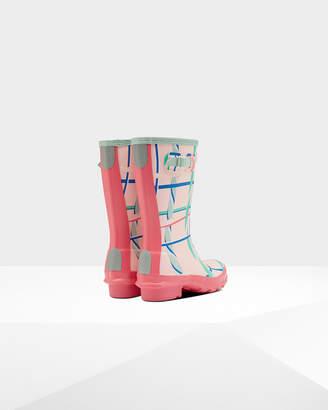 b192d4a41689 Hunter kids rock tartan wellington boots