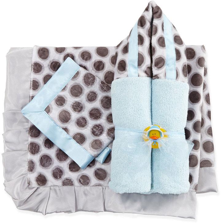 Swankie Blankie Slate Spot Security Blanket, Blue