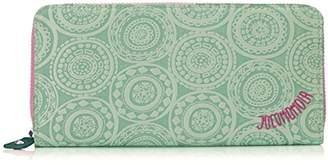 Jocomomola (ホコモモラ) - [ホコモモラ] 長財布 「アニージョ」ラウンドファスナー型長財布 5381402 54 ライトグリーン