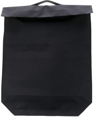 Issey Miyake foldover structured backpack