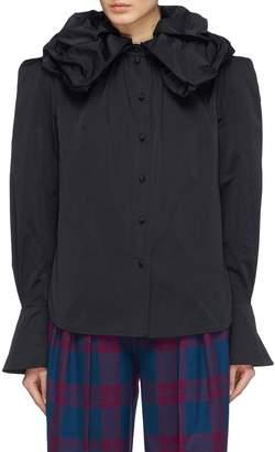 Marc Jacobs Ruffle collar flared cuff shirt
