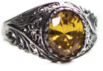 Express Falcon Jewelry Men sterling silver ring, citrine lab. stone, Shipping