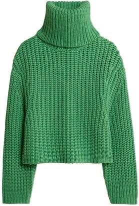 Merino Cropped Turtleneck Sweater