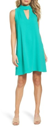 Women's Charles Henry Mock Neck Shift Dress $89 thestylecure.com