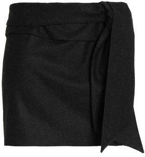 Chalayan Draped Brushed-Wool Mini Skirt