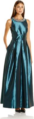 Sangria Women's Pearl Necklace Detail Ball Gown