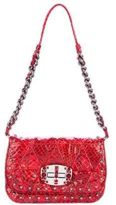 Miu Miu Snakeskin Crystal Evening Bag