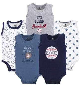 Hudson Baby Sleeveless Bodysuits, 5pk (Baby Boys)