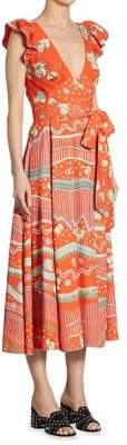 Marc Jacobs Floral-Print Mini Dress