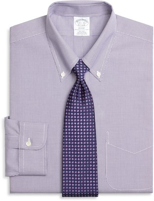 Brooks Brothers Regent Fitted Dress Shirt, Non-Iron Houndstooth
