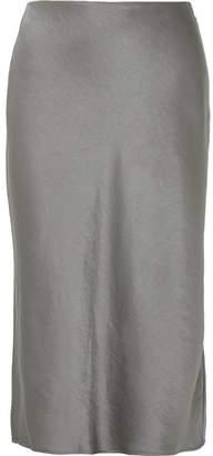 Alexander Wang Satin Midi Skirt - Silver