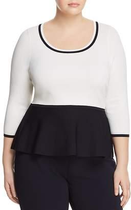 Marina Rinaldi Adri Color-Blocked Peplum Sweater
