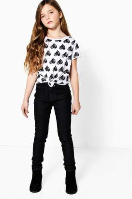boohoo Girls Black Jeggings