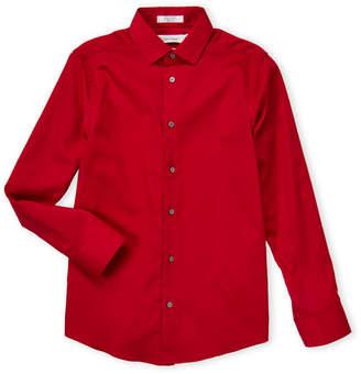 Calvin Klein Boys 8-20) Red Sateen Dress Shirt