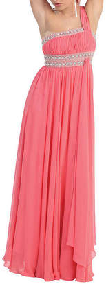 Asstd National Brand Semi Formal One Shoulder Bridesmaids Dress