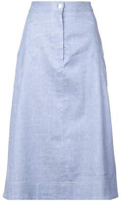 Jill Stuart plain a-line skirt