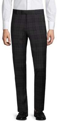 Extra Slim Fit Tonal Plaid Trousers