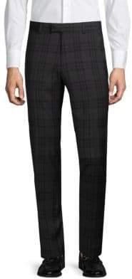 Extra Slim Fit Tonal Plaid Trousers
