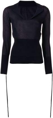 Jacquemus fine knit fitted sweater