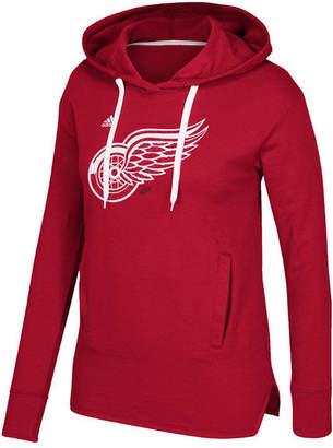 adidas Women's Detroit Red Wings Logo Shine Hooded Sweatshirt
