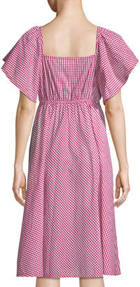STYLEKEEPERS Daisy Chain Off-The-Shoulder Gingham Dress