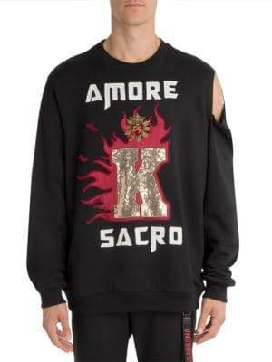 Dolce & Gabbana Amore Cold Shoulder Sweatshirt