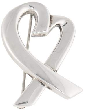 Tiffany & Co. Paloma Piccaso Sterling Silver Large Loving Heart Pin Brooch