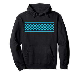 Checkered Surf Skateboard Shirt For Teens Checker Pattern Checkerboard Skater Surfer Style Teens Pullover Hoodie