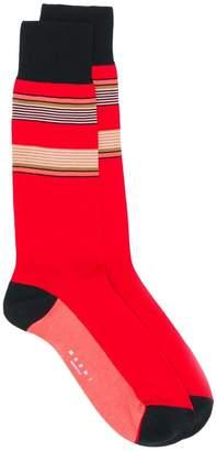 Marni colour blocked striped socks