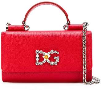 Dolce   Gabbana Red Chain Strap Handbags - ShopStyle 87d72bda89fef