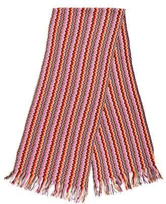 Missoni Fringe Knit Scarf