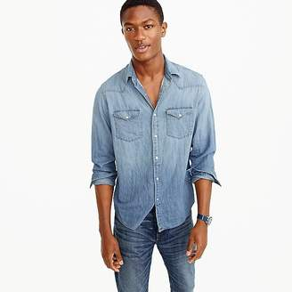 Lightweight denim Western shirt