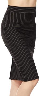 Ambiance Pinstripe Pencil Skirt