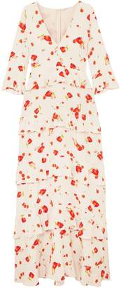 Vilshenko Elizabeth Floral-print Silk Crepe De Chine Maxi Dress