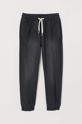 H&M Denim Joggers - Black