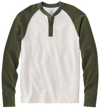 L.L. Bean L.L.Bean Two-Layer River Driver's Shirt, Baseball Henley Colorblock