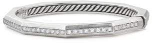 David Yurman Stax Faceted Bracelet With Diamonds