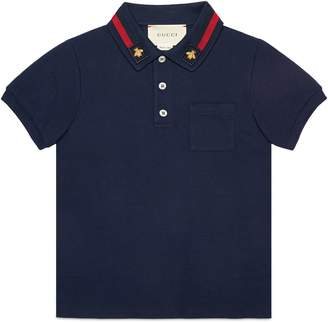 Children's cotton polo with bee $215 thestylecure.com