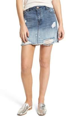 1822 Denim Ripped Denim Skirt