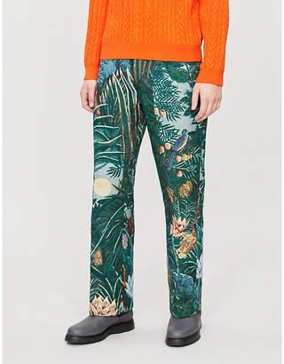 Kenzo Wild printed regular-fit jacquard trousers