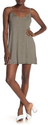 PST by Project Social T Striped Split Neck Tank Dress