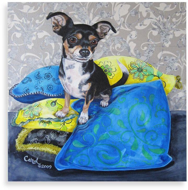 Bed Bath & Beyond Chihuahua on Pillows II Wall Art
