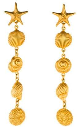 Valentino Four Drop Shell Earrings