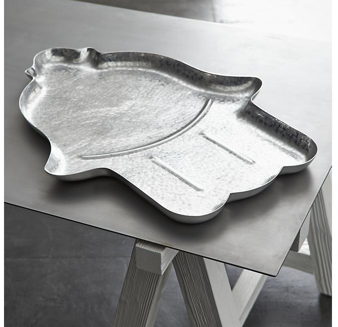 Crate & Barrel Como Aluminum Tray