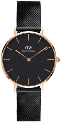Daniel Wellington DW00100201 Classic Petite Ashfield Black and Rose Gold Watch