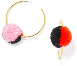 Antigua Hoops-Pink/Coral/Black $32 thestylecure.com