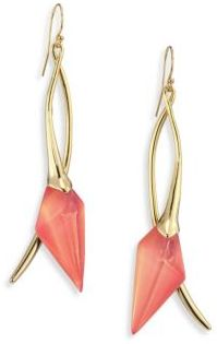 Alexis Bittar Lucite Elongated Wire Earrings $175 thestylecure.com