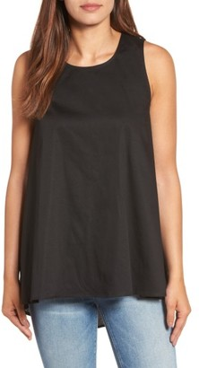 Women's Pleione Bow Back Poplin Swing Top $54 thestylecure.com